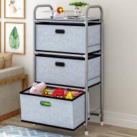 索尔诺抽屉式收纳柜加厚加大置物架层架 玩具收纳盒家用收纳箱整理储物架子3301