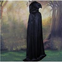 万圣节服装儿童黑色斗篷披风 巫师袍 死神吸血鬼cosplay服饰