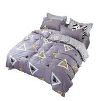 南极人(NanJiren)舒适柔软水洗棉床上用品套件 床单 被套 枕套