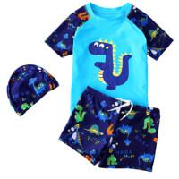 儿童泳衣男童分体泳裤游泳衣套装 男孩卡通泳装宝宝游泳装备