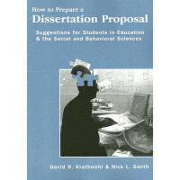 【预订】How to Prepare a Dissertation Proposal: Suggestions