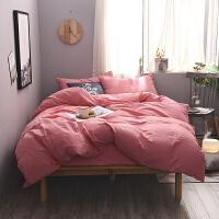棉色磨毛四件套秋冬天加厚保暖1.8m双人床上用品床单被套