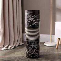 景德镇欧式陶瓷落地大花瓶简约现代客厅创意家居摆件富贵竹