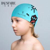 范德安儿童硅胶泳帽 男童女童防水护耳可爱中大童学生温泉游泳帽.