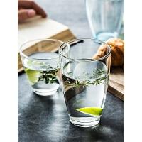 彩色无铅玻璃水杯家用耐热透明玻璃杯子牛奶果汁茶杯漱口杯子
