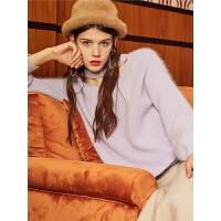 【3折到手价:96】【满399减80】puella毛线衣女宽松韩版冬季新款长袖打底衫时尚保暖针织衫女