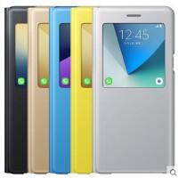 三星Note7原装智能皮套 视窗折叠支架壳N9300立式保护套翻盖