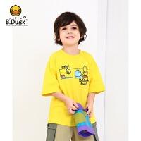 【3折价:68.7】B.Duck小黄鸭童装男童圆领短袖T恤BF2101923