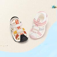 戴维贝拉童鞋儿童凉鞋2021夏季新款男童女童学步鞋轻便防滑机能鞋