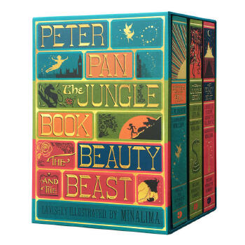 Peter Pan, Jungle Book, Beauty and the Beas精装艺术插图设计版《彼得潘》《丛林之书》《睡美人》三册套装