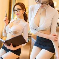 esibibi情趣内衣角色扮演缕空露乳包臀性感秘书制服FA013