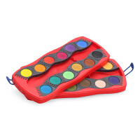 德国辉柏嘉 可拼固体水彩盒 儿童绘画水粉颜料填色套装12色24色