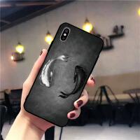 软硬壳彩色鲤鱼 苹果x手机壳iphone7plus/8/6s/5se套女款情侣外壳