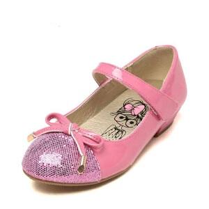 鞋柜shoebox儿童单鞋 简约女童皮鞋蝴蝶结公主鞋中大童舞蹈鞋