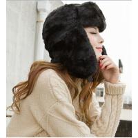 保暖男女士护耳帽仿兔毛皮草加厚雷锋帽秋冬户外滑雪帽子