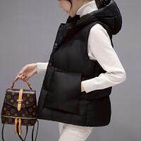 棉衣马甲女士外套秋冬装新款马甲女式宽松棉背心短款棉外套面包服无袖