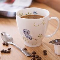 创意马克杯陶瓷咖啡杯北欧田园风喝水杯子家用花茶杯办公室泡茶杯