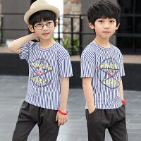 童装男童短袖T恤儿童中大童上衣夏装体恤打底衫