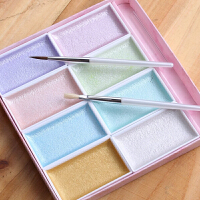 吉祥珍珠颜彩套装 24色固体水彩颜料绘画颜料
