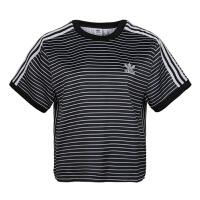 adidas/阿迪达斯女款2019夏季新款圆领条纹透气休闲T恤DU9869