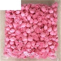 3cm仿真泡沫PE玫瑰花朵手工装饰花花环用花假花小花头整包500个