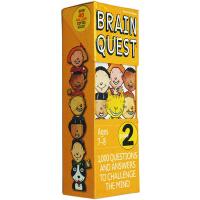 大脑任务 英文原版 Brain Quest Grade 2 少儿智力问答开发卡片书 2年级儿童益智英文学习 启蒙早教
