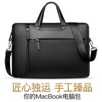 包邮支持礼品卡 苹果 笔记本 电脑包 真皮 Macbook 13/15寸 手提 商务 公文包 带 肩带