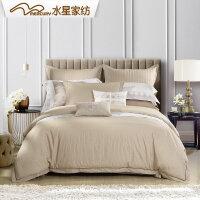 水星家纺酒店四件套全棉纯棉欧式星级酒店床上用品