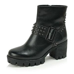 Teenmix/天美意专柜同款牛皮女短靴6E844DD6