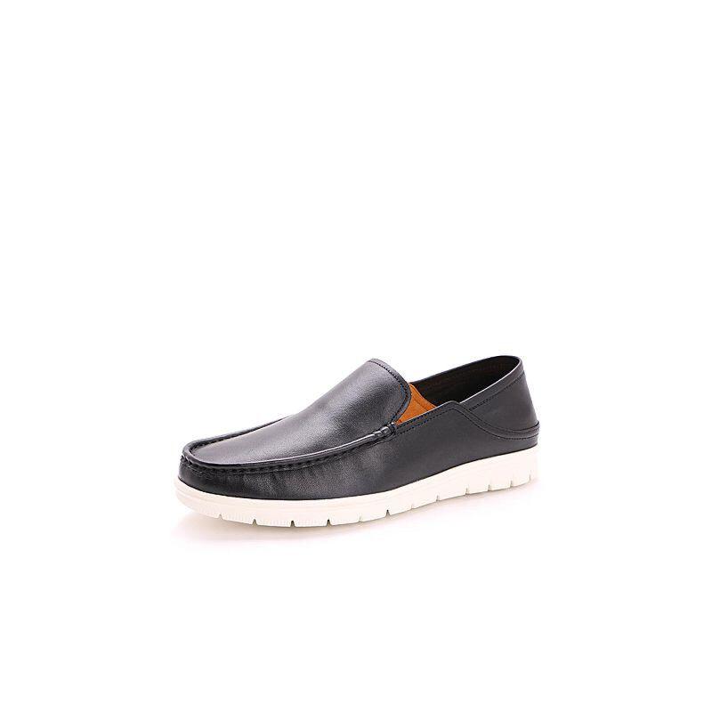 Belle/百丽2017夏季牛皮套脚懒人鞋乐福鞋男休闲鞋22901BM7
