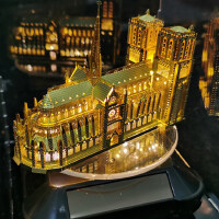 3D立体拼图DIY金属模型建筑拼装屋手工制作成年减压新年礼物男生