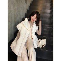 2018冬季手感超棒超厚实韩版手塞棉半袖坎肩宽松帅气短款棉衣外套