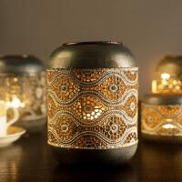 欧式风灯铁艺复古浪漫家居餐厅北欧美式烛台创意烛台摆件