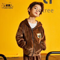 【3折价:83.7】小虎宝儿男童外套冬季加绒加厚2019新款儿童休闲保暖外套中大童潮