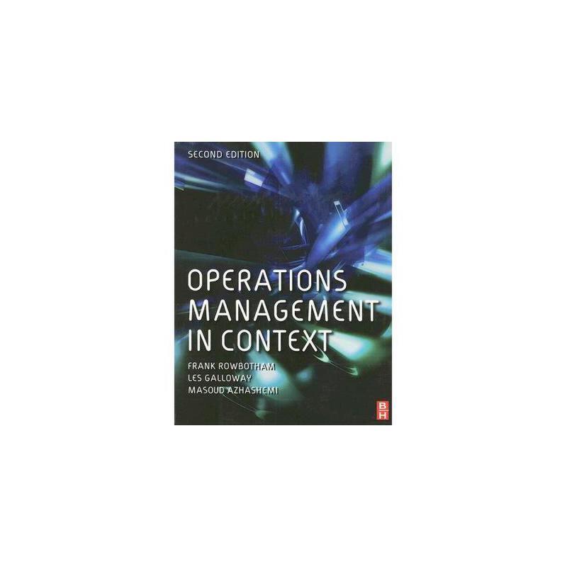 【预订】Operations Management in Context 美国库房发货,通常付款后3-5周到货!