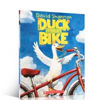 【全店满300减100】英文原版绘本 Duck on a Bike 会骑自行车的鸭子 David Shannon 4-8