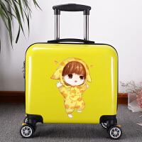 儿童行李箱男女孩宝宝拉杆箱可坐可骑旅行箱公主可爱卡通18寸皮箱 鹿晗 【卡通刹车轮】 18寸