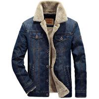 冬季男士牛仔外套男潮韩版宽松加绒加厚羊羔毛春秋季夹克男装棉衣