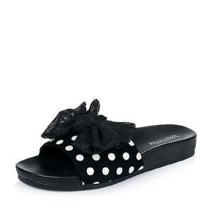 Teenmix/天美意夏季专柜同款羊绒皮/网布女拖鞋AM791BT6