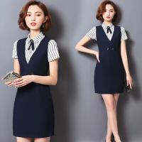 夏季教师职业装女装套装新款时尚面试正装美容师工作服连衣裙