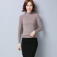 春装新款套头毛衣女修身柔软打底衫长袖半高领针织衫上衣小衫