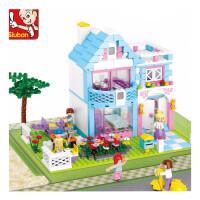 快乐小鲁班兼容�犯呋�木房子67公主梦8女童9儿童拼装玩具10岁女孩子生日礼物儿童节礼物