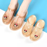 洞洞鞋女童包头果冻凉鞋女儿童中大童学生亲子小孩塑料沙滩鞋夏季