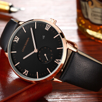 男表夜光商务简约运动学生男士石英手表皮带腕表情人节礼物