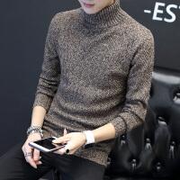 男士韩版修身高领毛衣青少年帅气上衣潮秋冬装潮流男装麻花针织衫