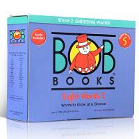 【全店300减100】英文原版 Bob Books Set 5 五阶段 sight words 鲍勃幼儿英语学习常见字词