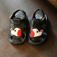 夏季男宝宝鞋凉鞋婴幼儿学步鞋叫叫鞋女童会响休闲
