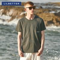 【2件2.5折:46】Lilbetter2019短袖t恤男韩版纯棉夏季衣服夏季男生上衣时尚潮流半袖LB
