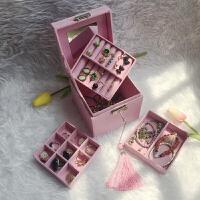 复古首饰盒欧式精致小号饰品盒公主简约收纳盒手饰盒珠宝盒化妆盒