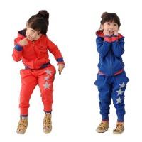 婴蓓乐 韩版童装 女童五角星运动套装